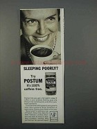 1966 Instant Postum Ad - Sleeping Poorly?
