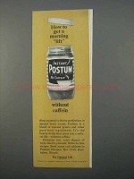 1966 Instant Postum Ad - How to Get a Morning Lift