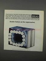 1966 Mead Cluster-Pak Packaging Ad - Double Feature