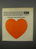 1966 Mead Black & White Enamel Paper Ad - Fair Reader