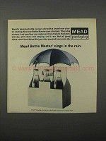 1966 Mead Bottle Master Packaging Ad - Sings in Rain