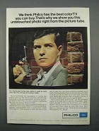 1966 Philco Color TV Ad - Unretouched Photo from Tube