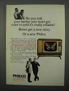 1966 Philco Color TV Ad - So You Told Your Barber