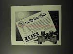 1928 Zeiss Prism Binocular Ad - A Really Fine Gift