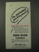 1943 Zeiss Ikon Cameras Ad - Pictures Be Proud Of