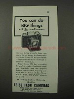 1943 Zeiss Ikon Super Ikonta BX Camera Ad - Big Things