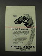 1930 Carl Zeiss Binoculars Ad - The Gift Distinctive