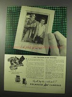 1953 Polaroid Pathfinder Model 110 & 95 Camera Ad - Seconds