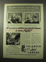 1950 Polaroid Land Camera Ad - Picture-in-a-Minute