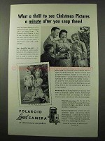 1949 Polaroid Land Camera Ad - Christmas Pictures