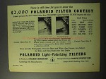 1945 Polaroid Light-Polarizing Filters Ad - Contest