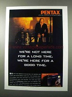 1995 Pentax IQZoom 140 Camera Ad - For a Good Time