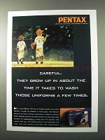 1995 Pentax IQZoom 140 Camera Ad - They Grow Up