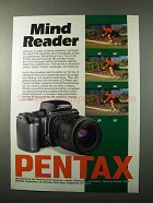 1992 Pentax PZ-20 Camera Ad - Mind Reader