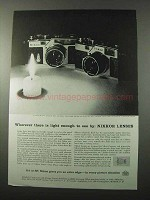 1958 Nikon S-3 and SP Cameras Ad - Wherever Light