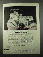 1956 Nikon S-2 Camera Ad - By Design