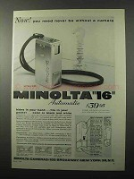 1958 Minolta 16 Camera Ad - Never Be Without
