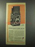 1956 Minolta Autocord Camera Ad - For Perfectionists