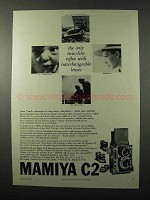 1960 Mamiya C2 Camera Ad - Interchangeable Lenses