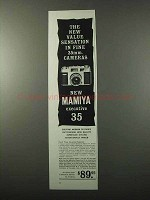 1959 Mamiya Executive 35 Camera Ad - Value Sensation