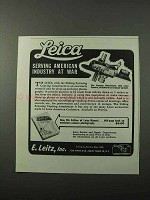 1943 Leica Sliding Focusing Copying Attachment Ad