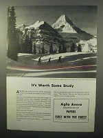1943 Agfa Ansco Photographic Paper Ad - Some Study