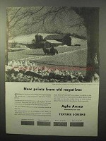 1943 Agfa Ansco Texture Screens Ad - Old Negatives