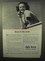 1943 Agfa Ansco Superpan Supreme Film Ad - Straw Wind