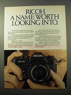 1981 Ricoh KR-10 Camera Ad - Worth Looking Into