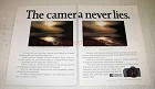 1988 Ricoh XR-M Camera Ad - The Camera Never Lies