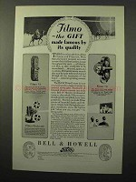1928 Bell & Howell Filmo 70 and 75 Movie Cameras Ad - Quality