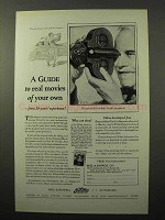1927 Bell & Howell Filmo Movie Cameras Ad - A Guide