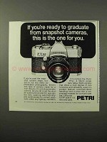 1973 Petri FTEE Camera Ad - Graduate From Snapshot
