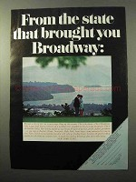 1971 New York Tourism Ad - Brought You Broadway