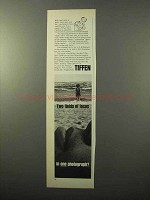 1971 Tiffen Split-Field Lens Ad - Two Fields of Focus