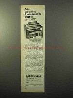1970 Schober Consolette Organ Ad - Build Exciting