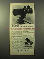 1970 Questar Modified Beseler Topcon Super D Camera Ad