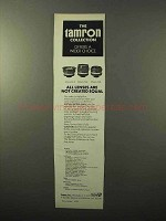 1970 Tamron Lens Ad - 24mm f4.5, 28mm f2.8, 35mm f2.8