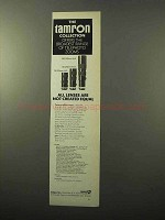 1970 Tamron Lens Ad - 70-220mm, 80-250mm, 200-500mm