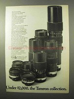 1970 Tamron Lenses Ad - Under $2,000 The Collection