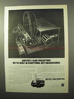 1970 GAF Sawyer's Rotomatic 747AQZ Slide Projector Advertisement