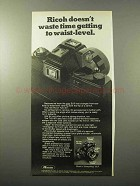 1970 Ricoh TLS 401 Camera Ad - Getting Waist-Level