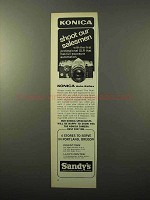 1969 Konica Auto-Reflex Camera Ad - Shoot Salesmen