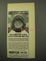 1969 Tamron Adapt-A-Matic 21mm f4.5 Wide Angle Lens Ad