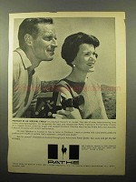 1964 Pathe Imperial 8 Camera Ad - Charlton Heston
