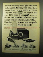 1964 Sawyer's Rotomatic 600 Projector Ad