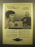 1962 Sawyer's Slide Projector Ad - Started Comparing