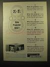 1962 Bausch & Lomb Balomatic 755 Projector Ad