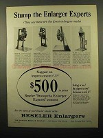 1962 Beseler Enlarger Ad - 23C, 45 HCA, 45 MCR-X