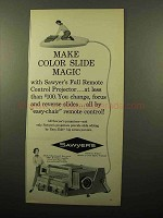 1961 Sawyer's 500 R Slide Projector Ad - Slide Magic